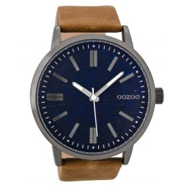 Oozoo C9406 Herrenuhr Camel/Blue 48 mm