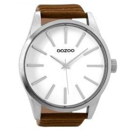 Oozoo C9410 Herrenuhr Braun/Weiß 50 mm