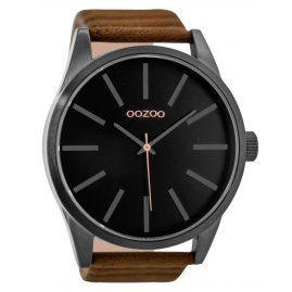 Oozoo C9413 Herrenuhr Schwarz/Braun 50 mm