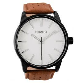 Oozoo C9420 Herrenuhr Schwarz/Braun/Weiß 48 mm