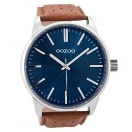Oozoo C9422 Herrenuhr Braun/Blau 48 mm