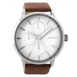 Oozoo C9426 Herrenuhr Braun/Weiß XL 49 mm