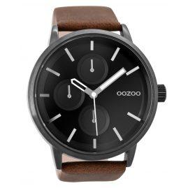 Oozoo C9428 Herrenuhr Schwarz/Braun 49 mm