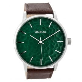 Oozoo C9441 Mens Watch Brown/Monsteragreen 48 mm