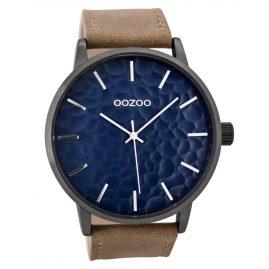 Oozoo C9442 Herrenuhr Sand/Blau 48 mm