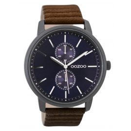 Oozoo C9453 Herrenuhr Schwarz/Braun/Blau 45 mm