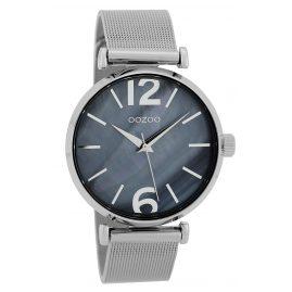 Oozoo C9567 Damen-Armbanduhr mit Milanaiseband Grau/Blaugrau 40 mm