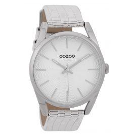 Oozoo C9580 Armbanduhr mit Lederband Weiß 42 mm