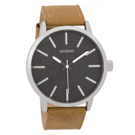 Oozoo C9600 Herrenuhr 45 mm Paint-Look-Zifferblatt Schwarz/Sand
