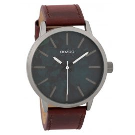 Oozoo C9603 Herrenuhr 45 mm Paint-Look-Zifferblatt Grau/Rot