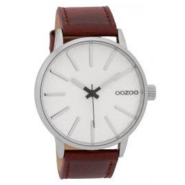 Oozoo C9605 Herrenuhr 45 mm Design-Zifferblatt Weiß/Rot