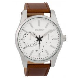 Oozoo C9616 Herrenuhr 45 mm Weiß/Braun