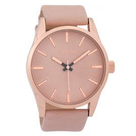 Oozoo C9626 Men's Watch 45 mm Leather Strap Pink-Grey