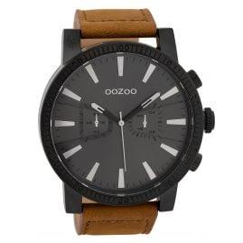 Oozoo C9647 Herrenuhr im Chrono-Look Schwarz/Braun 50 mm