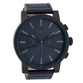 Oozoo C9648 Herrenuhr im Chrono-Look Blau 50 mm