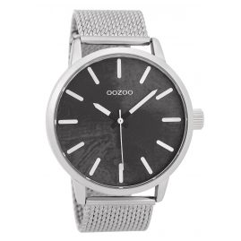 Oozoo C9655 Men's Watch Black/Silver 45 mm
