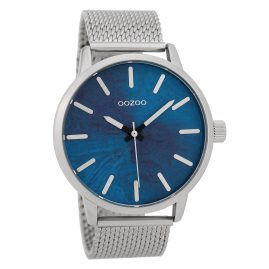Oozoo C9656 Herrenarmbanduhr Blau/Silberfarben 45 mm