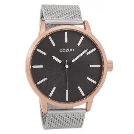 Oozoo C9657 Herrenuhr Schwarz/Silberfarben 45 mm