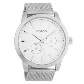 Oozoo C9661 Herrenuhr Weiß/Silberfarben 47 mm