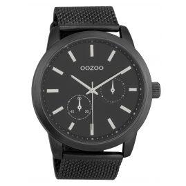 Oozoo C9664 Herrenuhr mit Milanaisearmband Schwarz 47 mm