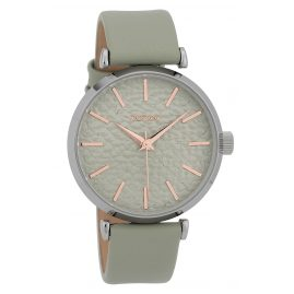 Oozoo C9665 Ladies Watch with Leather Strap Mint 40 mm