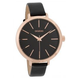 Oozoo C9674 Ladies' Watch Leather Strap 42 mm Black