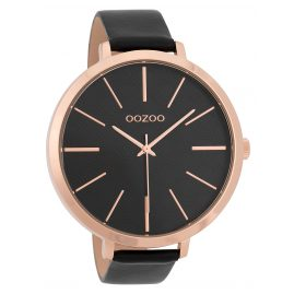 Oozoo C9679 Ladies' Watch with Leather Strap 48 mm Black