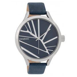 Oozoo C9681 Damenuhr mit Lederband 43 mm Blau