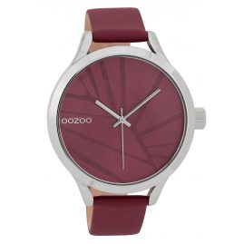 Oozoo C9682 Damenuhr 43 mm Design-Zifferblatt Weinrot