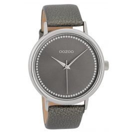 Oozoo C9708 Ladies' Watch with Leather Strap Grey 42 mm