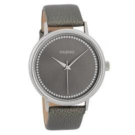 Oozoo C9708 Damenuhr mit Lederband Grau 42 mm