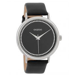 Oozoo C9709 Damen-Armbanduhr mit Lederband Schwarz 42 mm