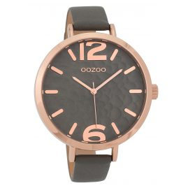 Oozoo C9713 Ladies' Watch with Leather Strap Grey 45 mm