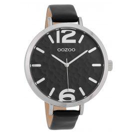 Oozoo C9714 Damenuhr mit Lederband Schwarz 45 mm