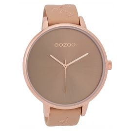 Oozoo C9717 XL Ladies' Watch with Leather Strap Nude 48 mm
