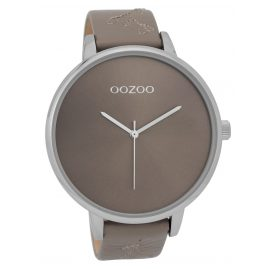 Oozoo C9718 XL Damenuhr mit Lederband Taupe 48 mm