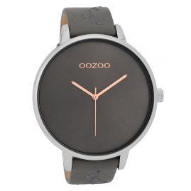 Oozoo C9719 Damenuhr mit Lederband Anthrazit/Grau 48 mm