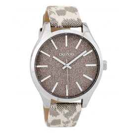 Oozoo C9770 Damenuhr Taupe 42 mm