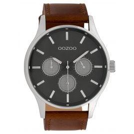 Oozoo C10046 Herrenuhr Grau/Braun 48 mm