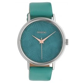 Oozoo C10080 Ladies' Wristwatch Leaves Turquoise 42 mm