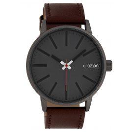 Oozoo C10011 Uhr in Unisex-Größe Anthrazit/Braun 45 mm