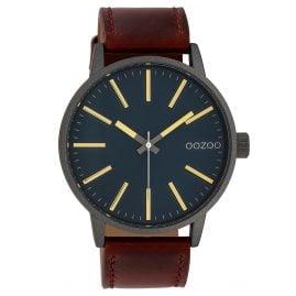 Oozoo C10012 Armbanduhr Dunkelgrün/Braun 45 mm