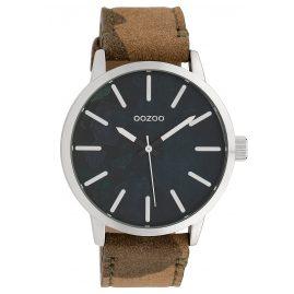 Oozoo C10001 Armbanduhr Camouflage Grau/Braun 45 mm