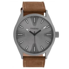 Oozoo C10022 Watch Dark Grey/Brown 45 mm
