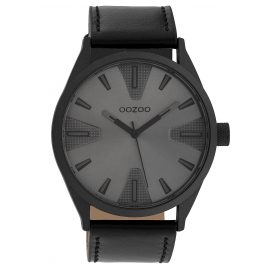 Oozoo C10024 Watch in Unisex Size Anthracite/Black 45 mm