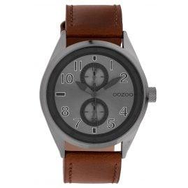 Oozoo C10028 Armbanduhr Anthrazit/Braun 42 mm