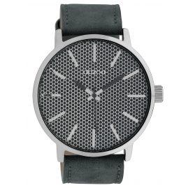 Oozoo C10038 Armbanduhr in Unisexgröße Grau 48 mm