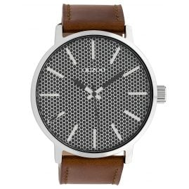 Oozoo C10039 Wristwatch in Unisex Size Grey/Brown 48 mm