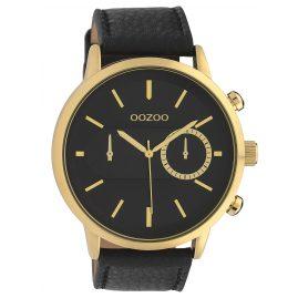 Oozoo C10069 Herrenarmbanduhr Goldfarben/Schwarz 49 mm