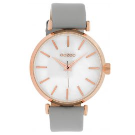 Oozoo C10143 Ladies´ Watch Mother-of-Pearl/Light Grey 39 mm